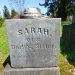Sarah Rosenthal marker erected by her two sisters and brother.